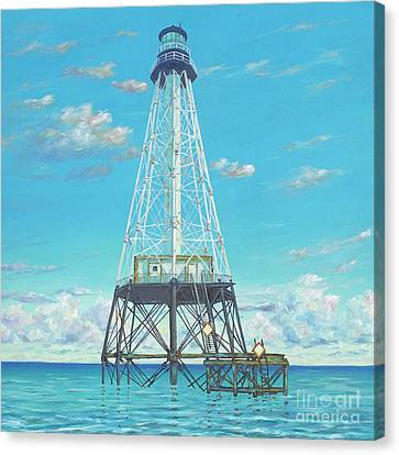 Alligator Reef Lighthouse Canvas Print