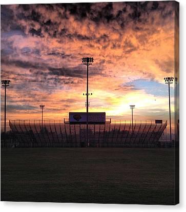 Alma High School Don Miller Field Sunrise Bleachers Canvas Print