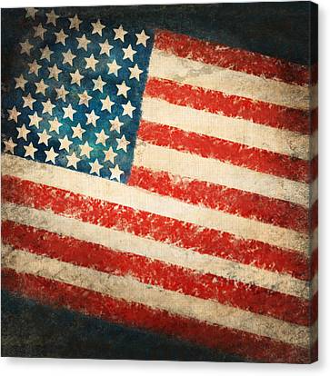 America Flag Canvas Print by Setsiri Silapasuwanchai