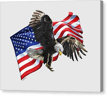America Canvas Print by Owen Bell