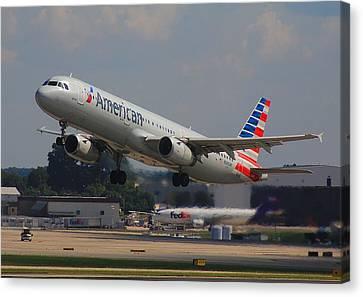 American Airlines N545uw Canvas Print