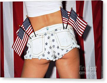 Booty Stars Stripes Piper Canvas Print