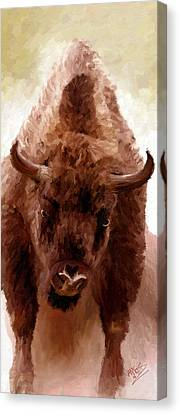 Canvas Print featuring the painting American Bison by James Shepherd