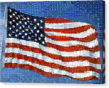 Democracy Canvas Print - American Flag by Panoramic Images
