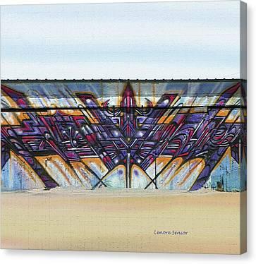 Sky Line Canvas Print - American Graffiti  by Lenore Senior