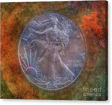 American Silver Eagle Dollar Canvas Print