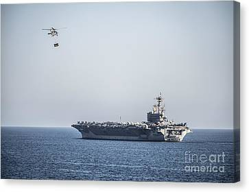 An Mh-60s Sea Hawk Helicopter Canvas Print by Celestial Images