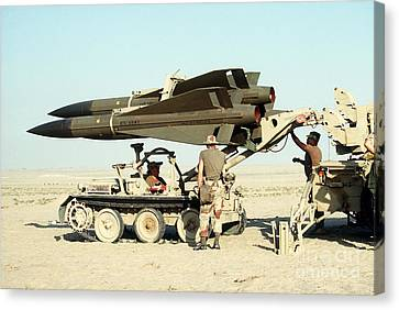 An Mim-23b Hawk Surface-to-air Missile Canvas Print by Stocktrek Images