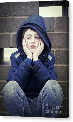 An Upset Child Canvas Print by Tom Gowanlock