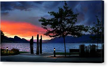 Canvas Print featuring the photograph A Sunset Story by John Poon