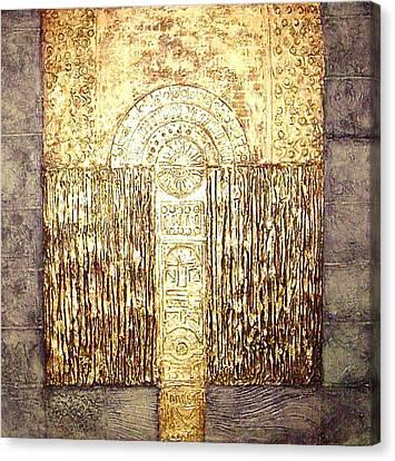 Ancient Golden Temple Canvas Print by Bernard Goodman