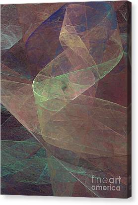 Canvas Print featuring the digital art Andee Design Abstract 66 2017 by Andee Design