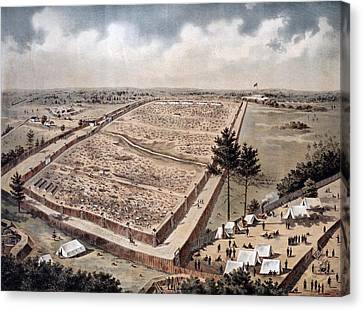 Andersonville Prison, Officially Known Canvas Print