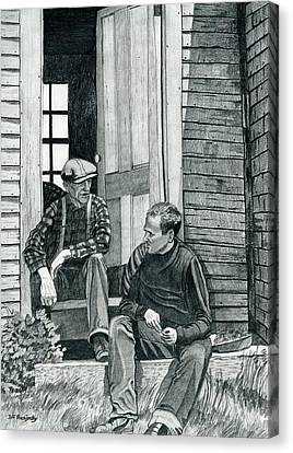 Andrew Wyeth And Alvaro Olson Canvas Print