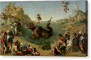 Andromeda Freed By Perseus Canvas Print by Piero di Cosimo