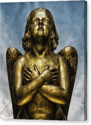 Graveyard Canvas Print - Angel by Martin Newman