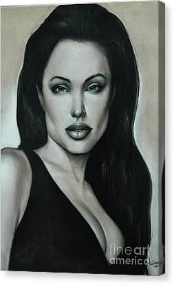 Angelina Jolie Canvas Print by Anastasis  Anastasi