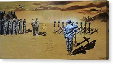 Angels Of The Sand Canvas Print by Todd Krasovetz