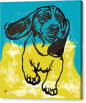 Animal Pop Art Etching Poster - Dog - 11 Canvas Print by Kim Wang