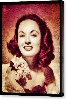 Ann Blyth, Vintage Actress By John Springfield Canvas Print