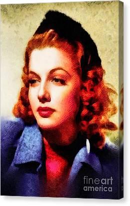 Ann Sheridan, Vintage Hollywood Actress Canvas Print by John Springfield