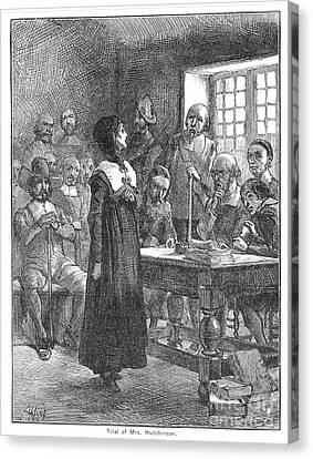 Anne Hutchinson (1591-1643) Canvas Print by Granger