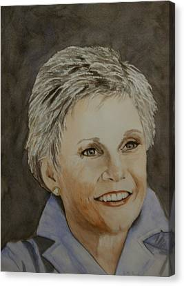 Anne Murray Canvas Print by Betty-Anne McDonald