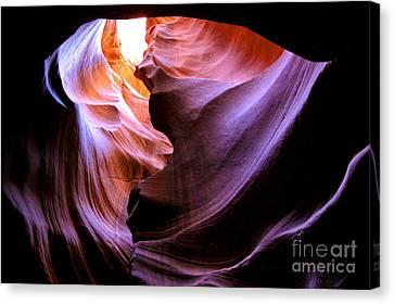 Antelope Slot Canyons Canvas Print by Ryan Kelly