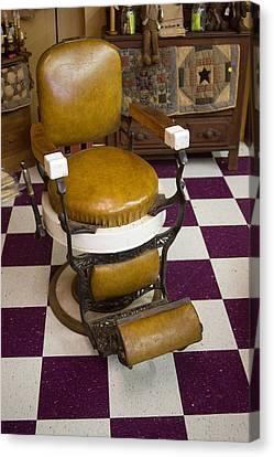 Antique Barber Chair 3 Canvas Print