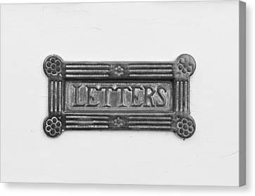 Antique Letterbox Canvas Print by Tom Gowanlock