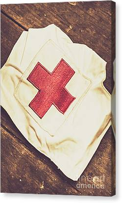 Antique Nurses Hat With Red Cross Emblem Canvas Print by Jorgo Photography - Wall Art Gallery