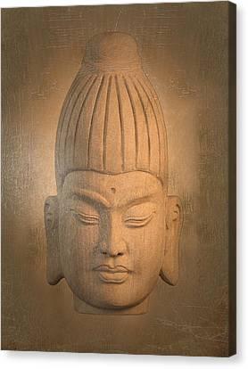antique oil effect Buddha Burmese. Canvas Print by Terrell Kaucher