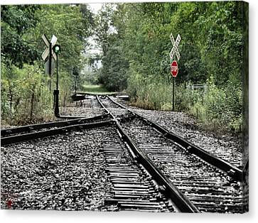 Hovind Canvas Print - Antique Railroad Track by Scott Hovind