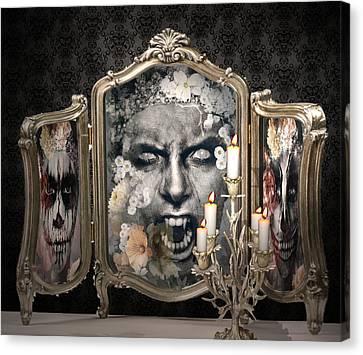 Antique Vampire Paintings Canvas Print