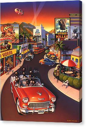 Convertibles Canvas Print - Ants On The Sunset Strip by Robin Moline