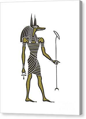 Anubis - God Of Ancient Egypt Canvas Print by Michal Boubin