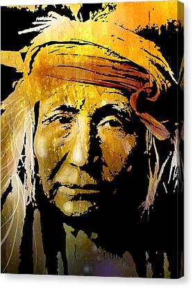 Apache Brave Canvas Print by Paul Sachtleben