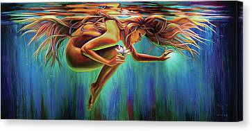 Aquarian Canvas Print - Aquarian Rebirth by Robyn Chance
