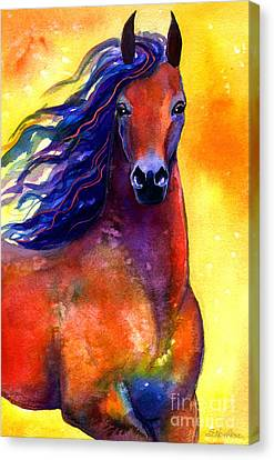 Stallion Canvas Print - Arabian Horse 1 Painting by Svetlana Novikova