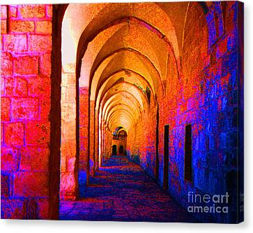 Canvas Print featuring the photograph Arches Surreal by Merton Allen