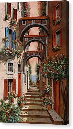 Gli Archetti Rossi Nuovi Canvas Print by Guido Borelli
