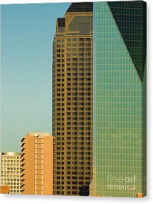 Architecture - Skyline Of Dallas Texas Canvas Print