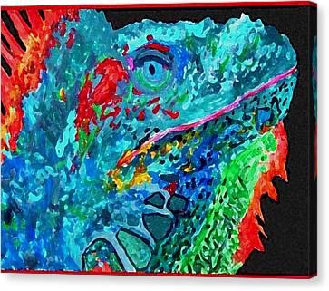 Arch's Iguanas Canvas Print