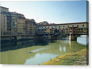 Arno River In Florence Italy Canvas Print by Marna Edwards Flavell