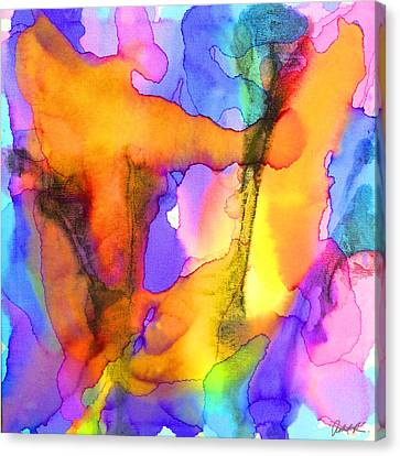 1 Art Abstract Painting Modern Color Signed Robert R Erod Canvas Print by Robert R Splashy Art Abstract Paintings