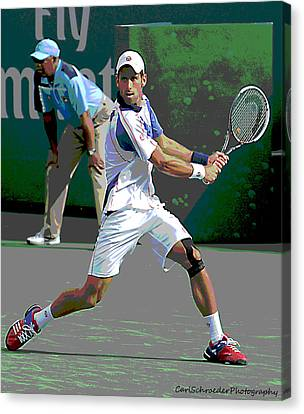 Art Of Tennis Canvas Print