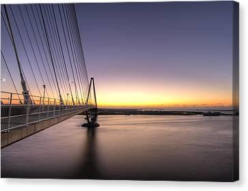 Arthur Ravenel Jr Bridge Sunrise Canvas Print