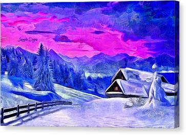 Artic Winter - Van Gogh Style Canvas Print by Leonardo Digenio