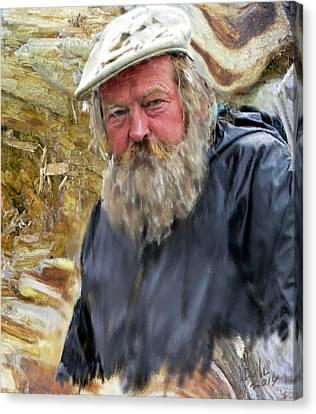 Canvas Print featuring the digital art Artist Of The Beach by Dale Stillman
