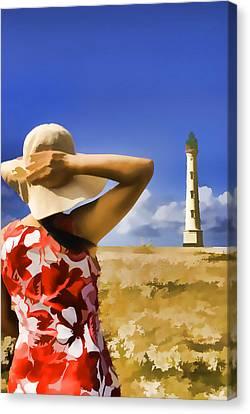 Aruba Lighthouse Canvas Print by Dennis Cox WorldViews